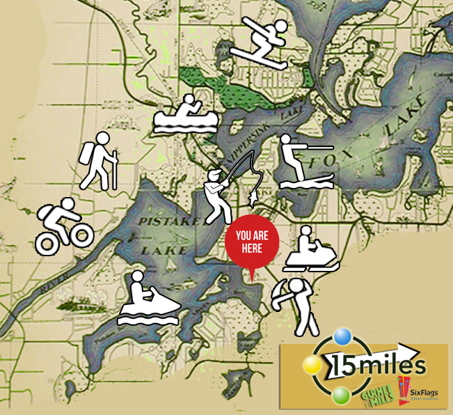 Lakefront Vacation Rental fun map